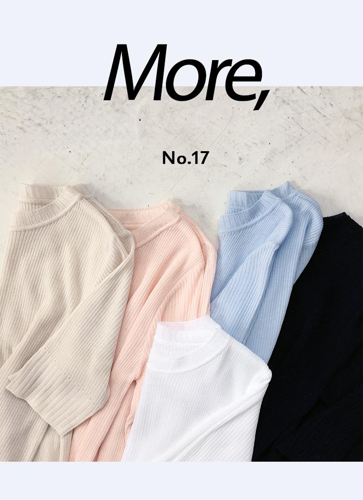 スリムフィットリブニットTシャツ・全5色