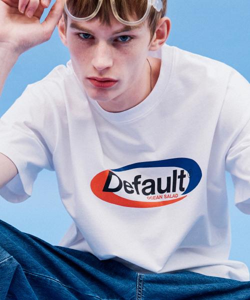 *Default*スポーティロゴTシャツ(ホワイト)