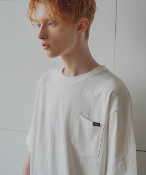 *F.ILLUMINATE*ユニセックスチェーンポケットTシャツ-アイボリー