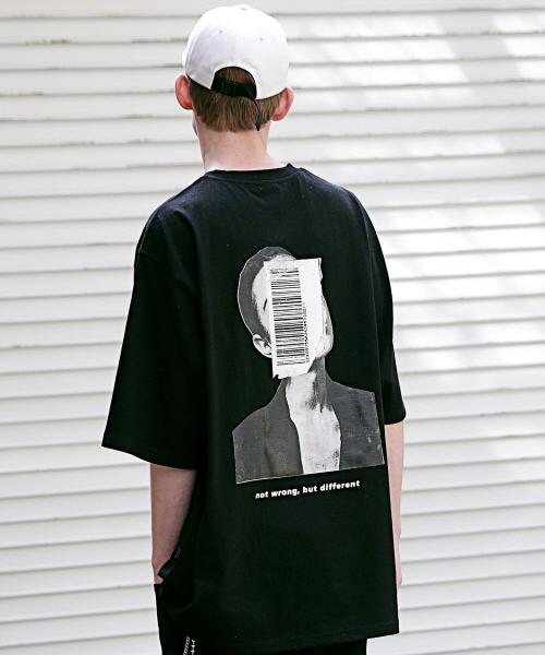 *Massnoun*アピアランスオーバーサイズTシャツ(ブラック)