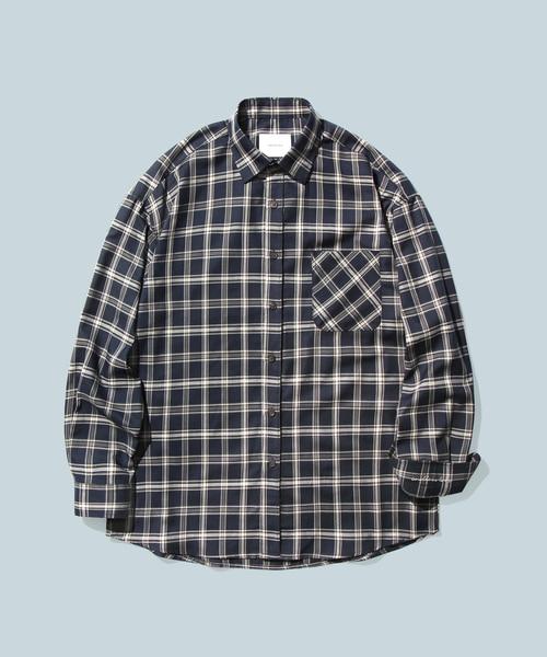 *DIAMOND LAYLA*エンドレスラブネイビー&アイボリーチェックシャツS8