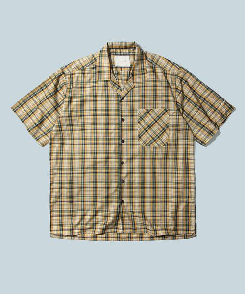 *DIAMOND LAYLA*パイナップルチェック1/2シャツS17