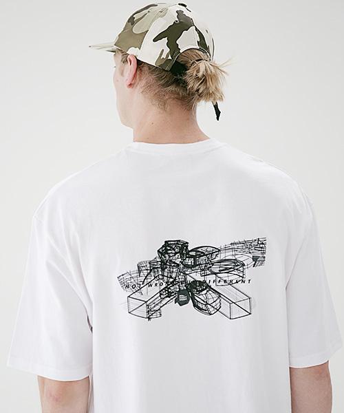 *Massnoun*ストラクチャーオーバーサイズドTシャツMSETS010-WT
