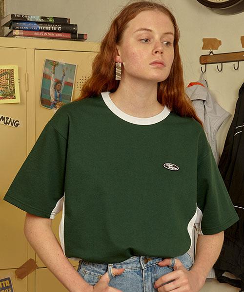 *MAINBOOTH*メッシュピースTシャツ(グリーン)