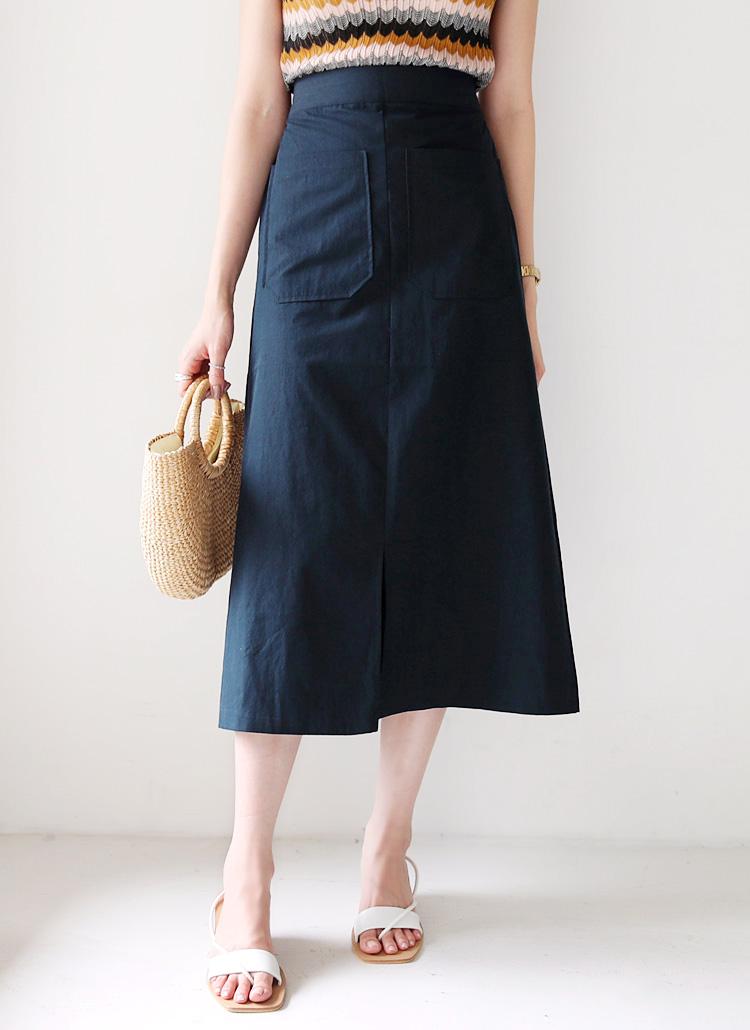 ツーポケットスリットスカート・全3色