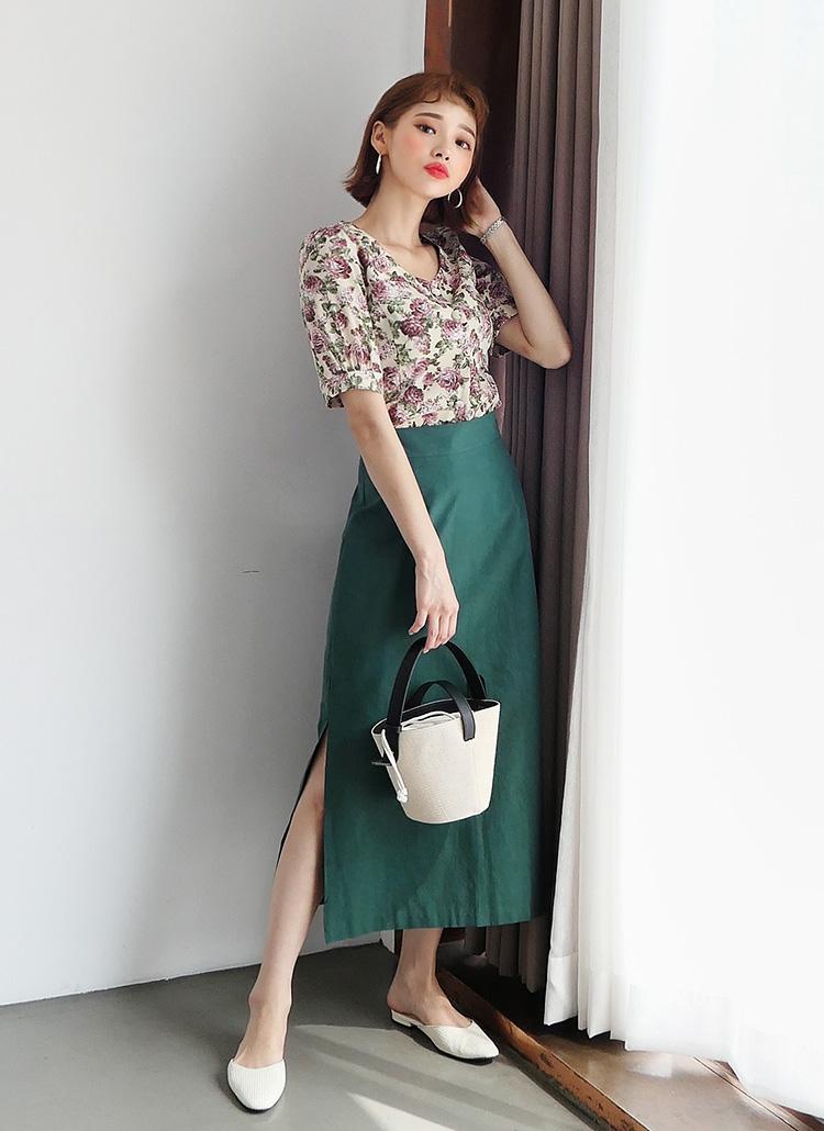 サイドスリットAラインスカート・全3色