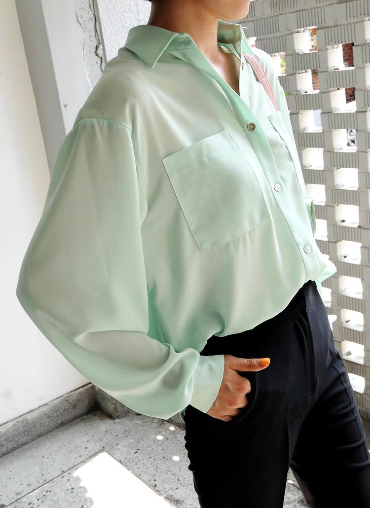 ダブルポケットシャツ・全3色
