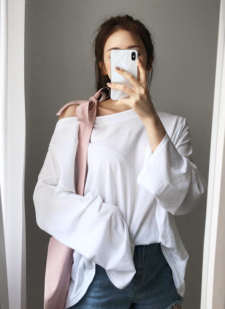 オーバーサイズロングスリーブTシャツ・全4色