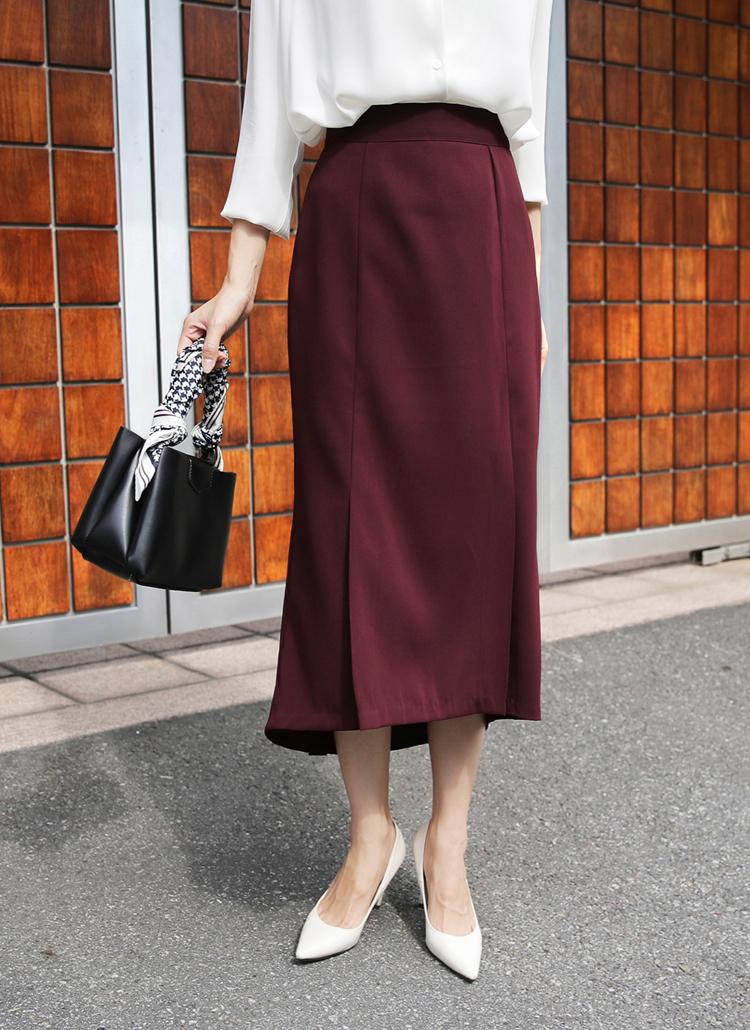 タックマーメイドスカート・全3色