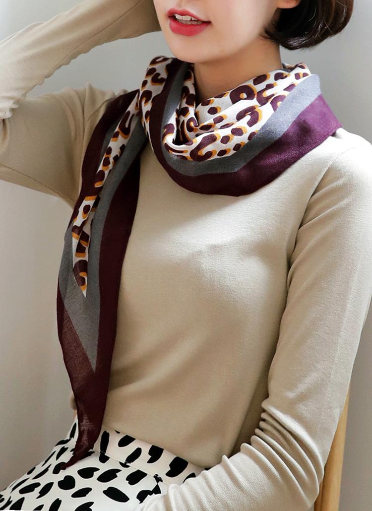 配色レオパードスカーフ・全5色