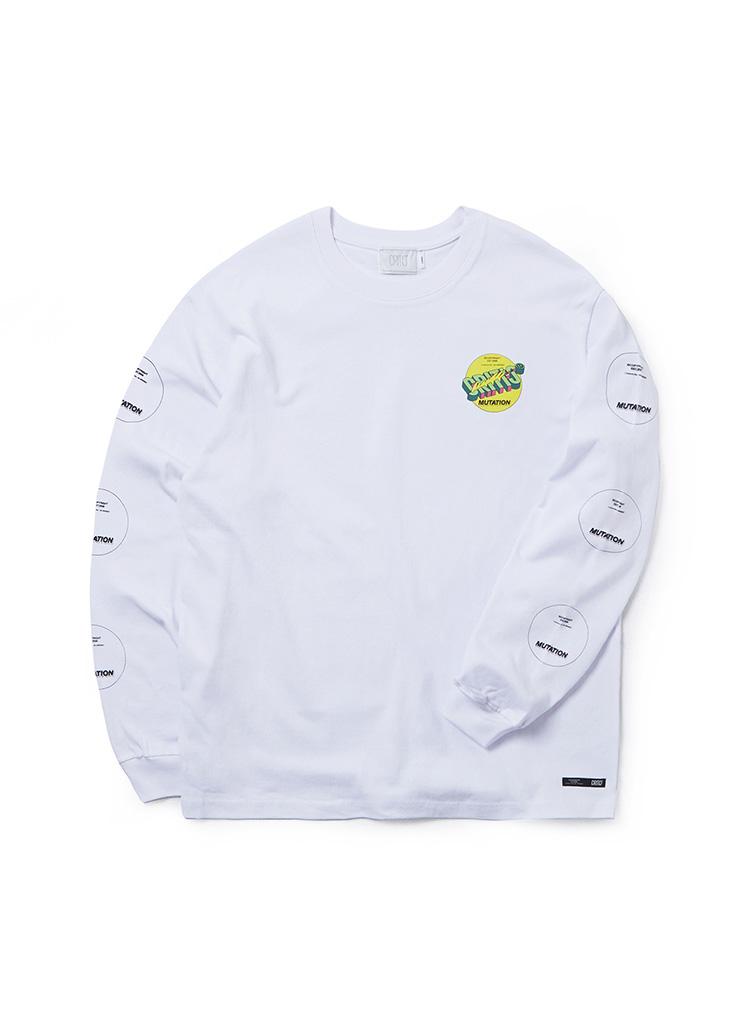 *CRITIC*サークルプリントロングスリーブTシャツ(ホワイト)