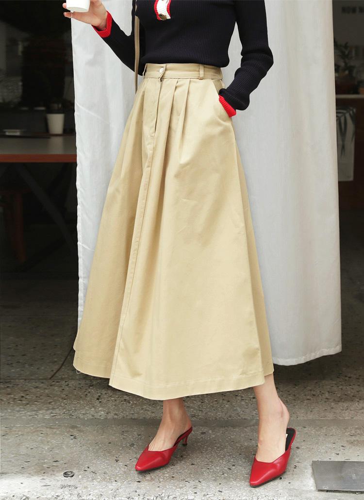 タックAラインロングスカート・全2色