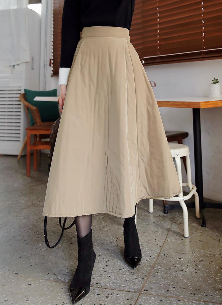 中綿フレアロングスカート・全2色