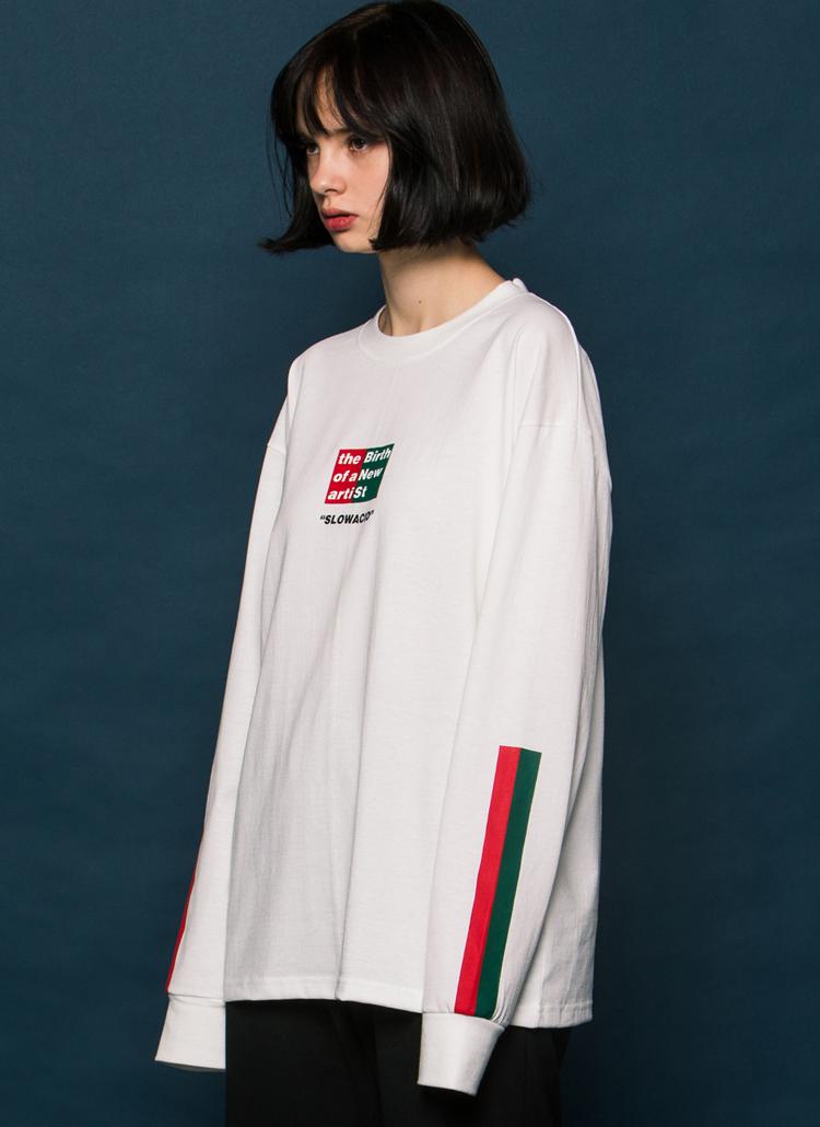 *SLOWACID*BNSロングTシャツ(ホワイト)