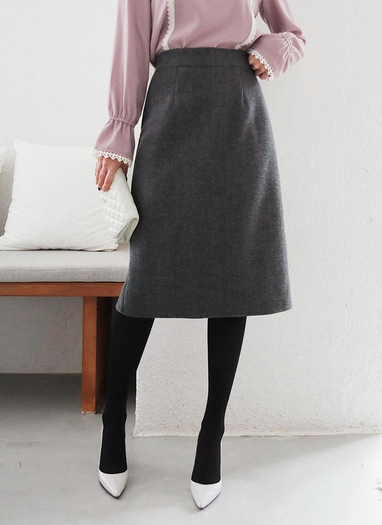 バックゴムHラインスカート・全4色