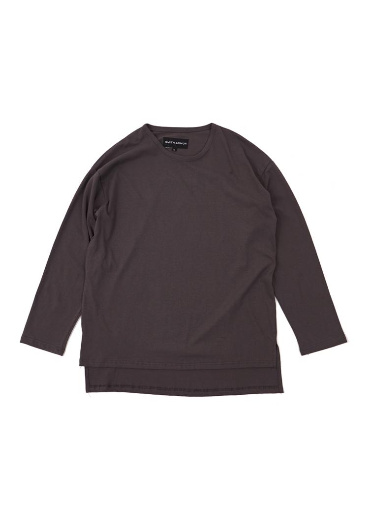 SAスリットレイヤードTシャツ(チャコール)