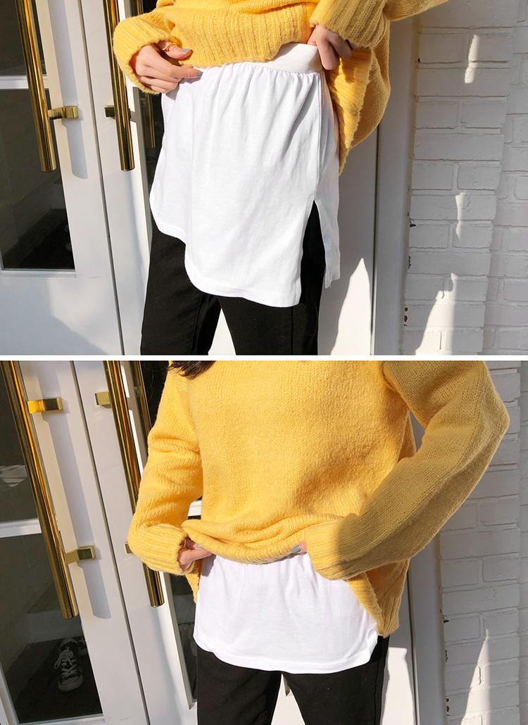 スリットレイヤードTシャツ・全2色
