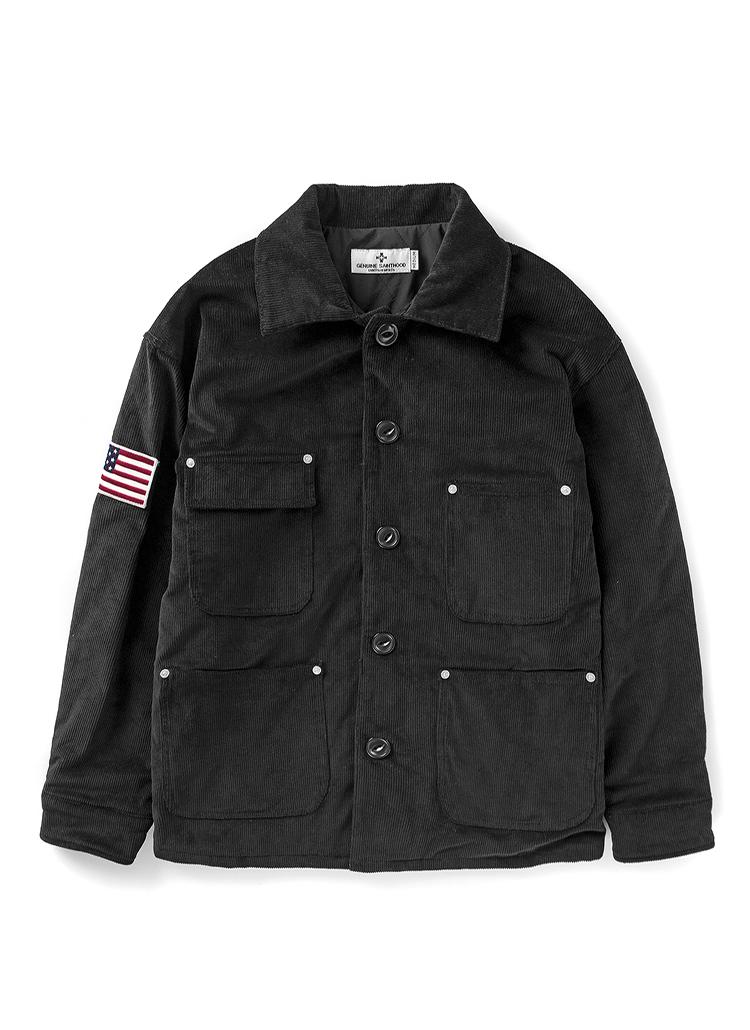バックSPロゴカバーオールジャケット(ブラック)