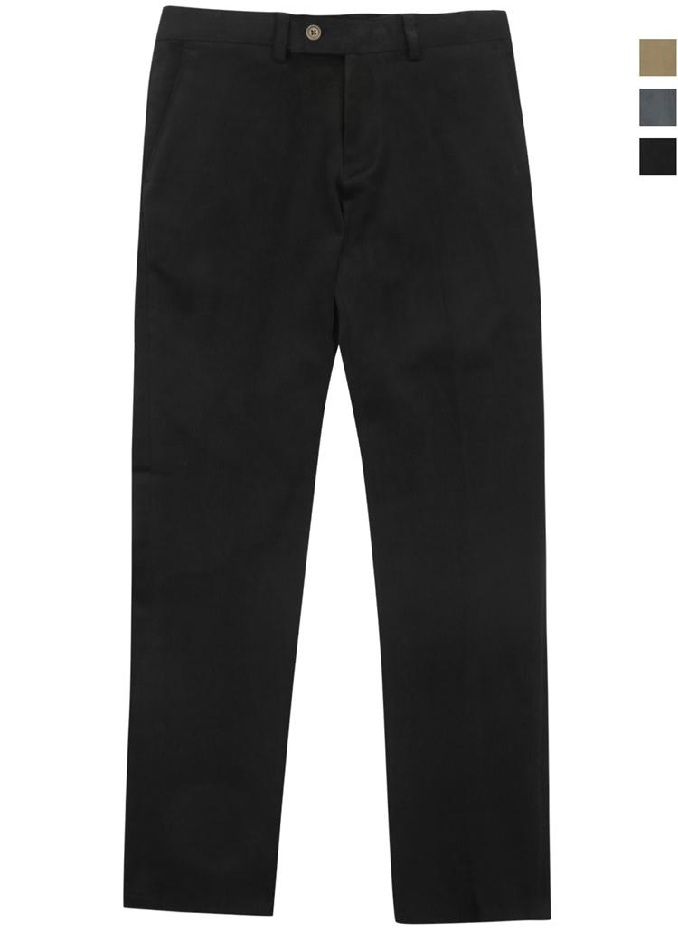 F/W綿混スラックスパンツ(ブラック)