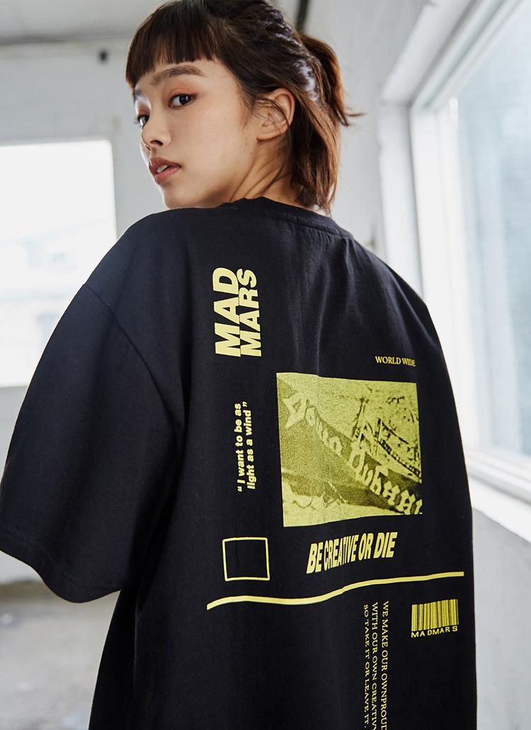 アートワークプリントTシャツ(ブラック)