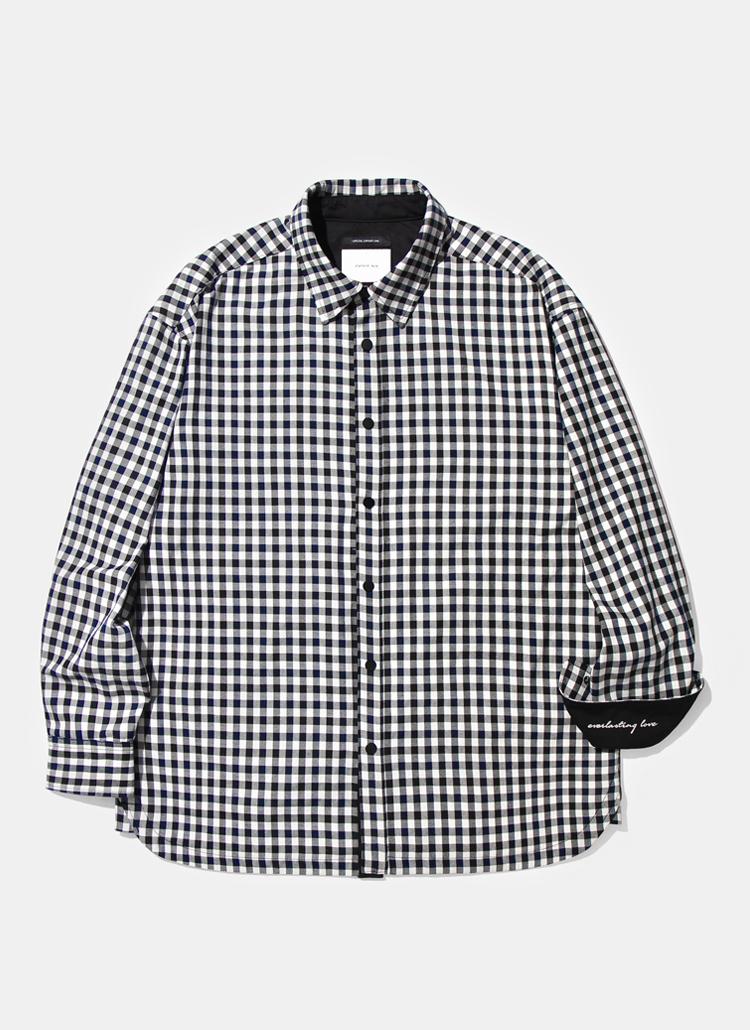 レイラミックスチェックシャツジャケット