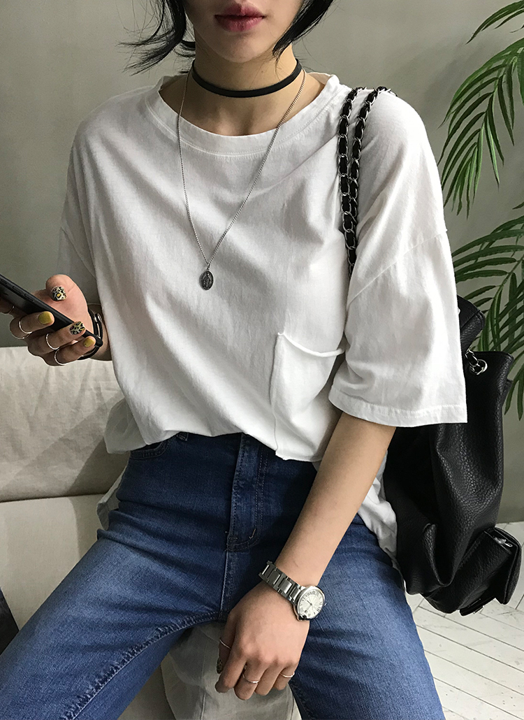 ルーズポケットポイント半袖Tシャツ