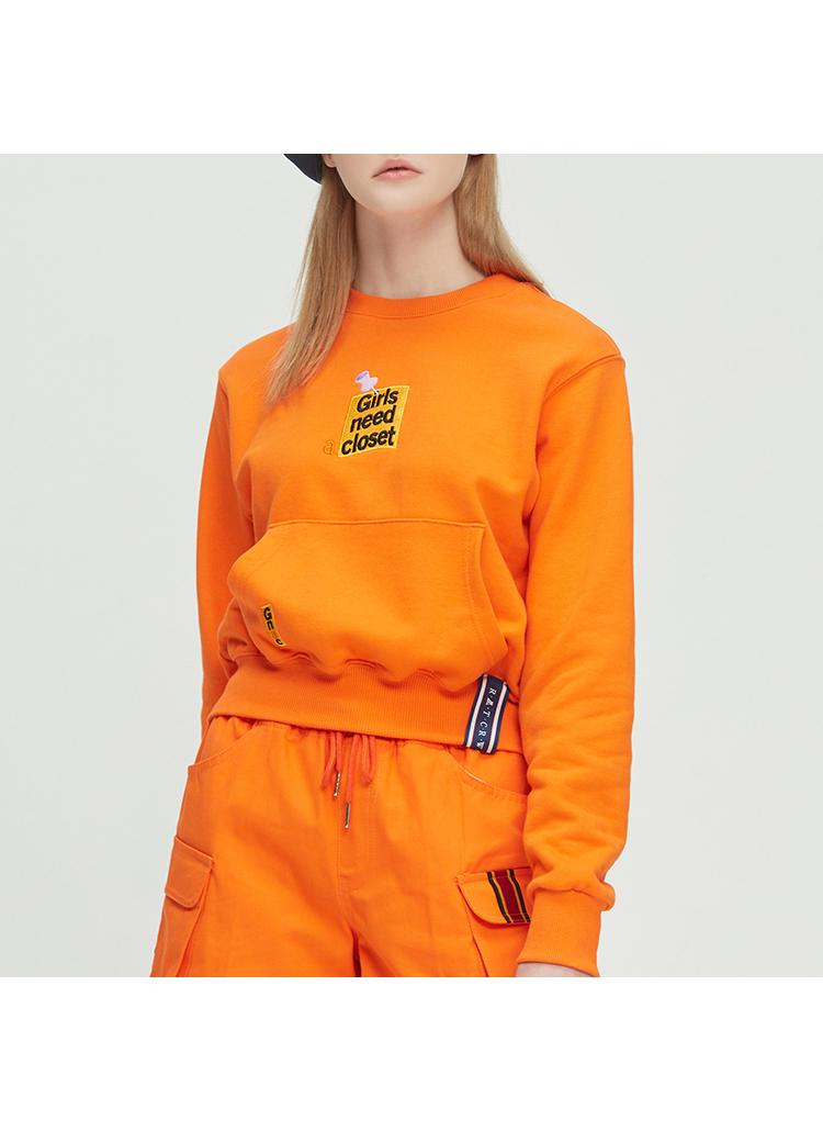 ロゴポケットスウェット(オレンジ)