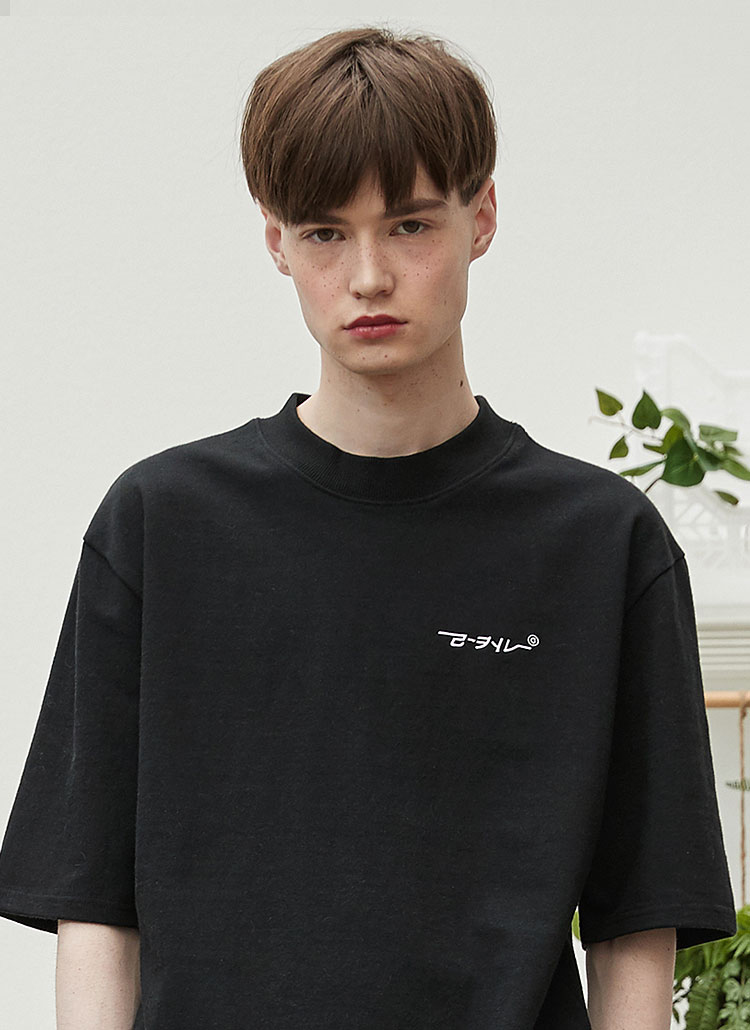 RCハーフネックTシャツ(ブラック)