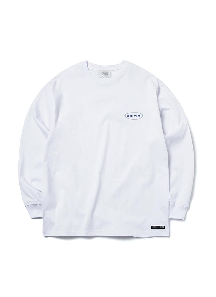CRITICオバールロゴ長袖Tシャツ(ホワイト)