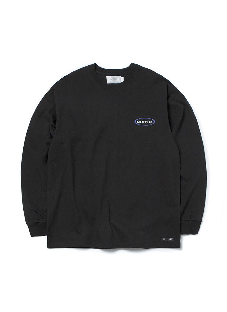 CRITICオバールロゴ長袖Tシャツ(ブラック)