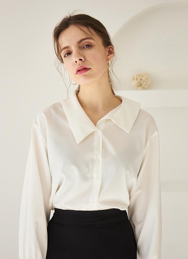 アンバランスカラーシャツ(ホワイト)