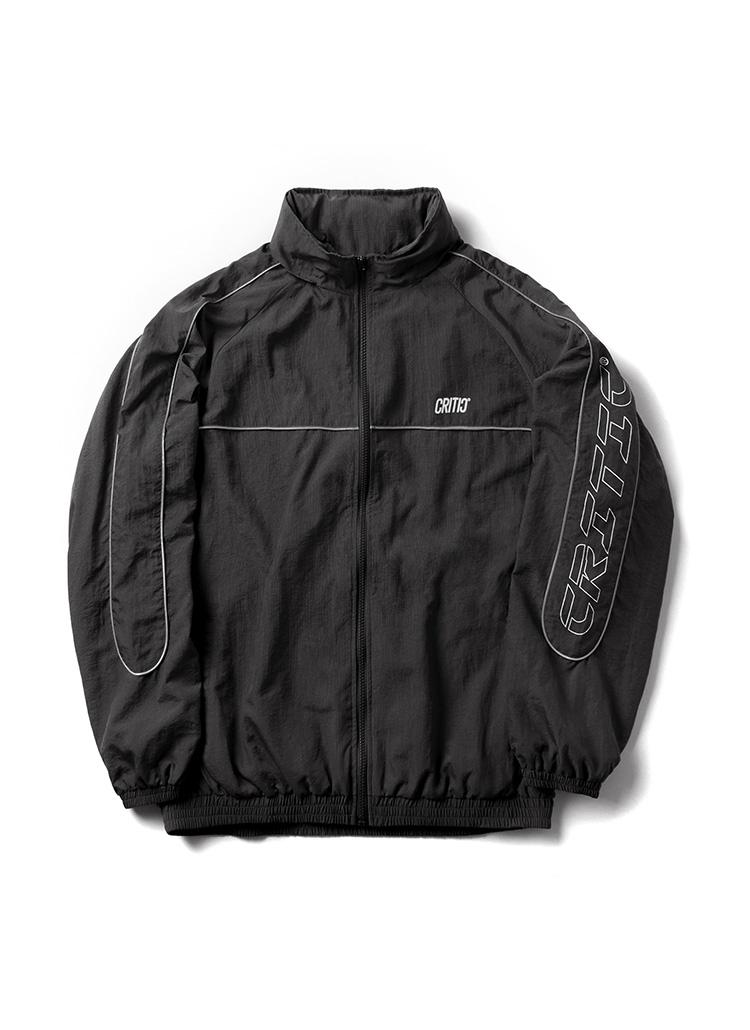 サイドロゴトラックジャケット(ブラック)