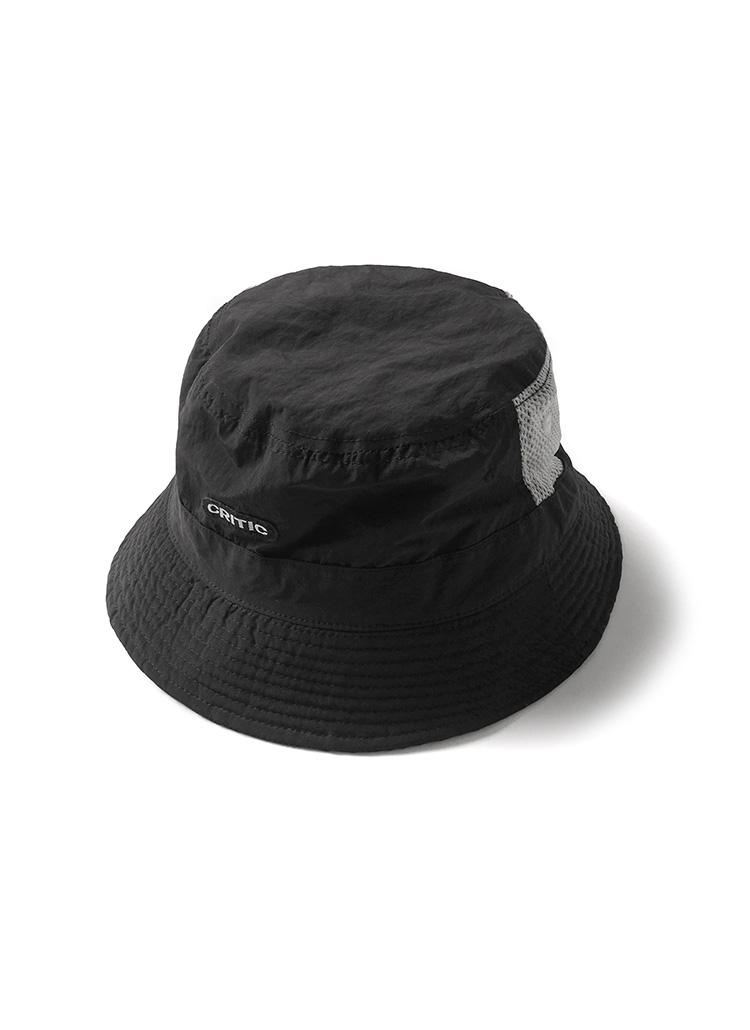 メッシュポイントロゴバケットハット(ブラック)