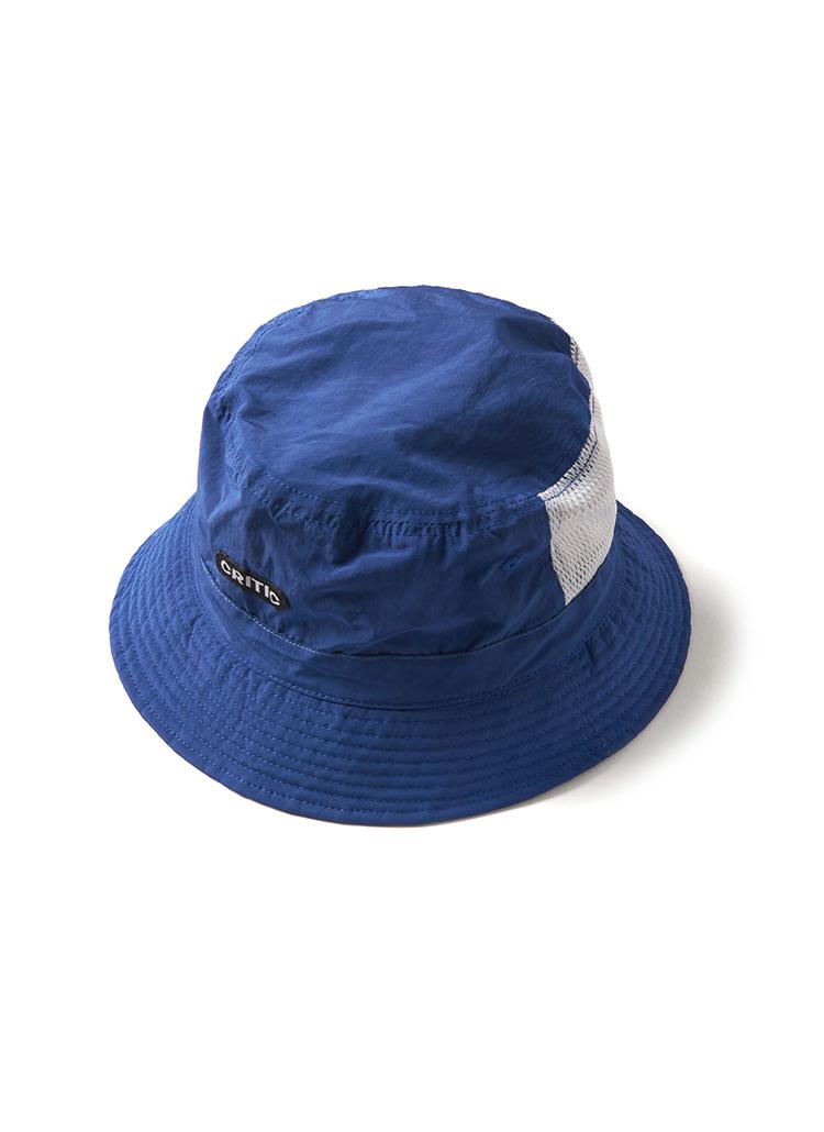 メッシュポイントロゴバケットハット(ブルー)