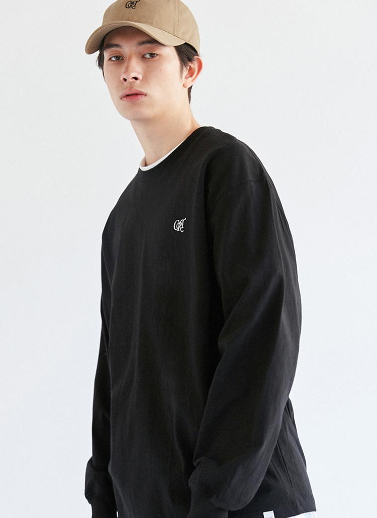 CRTロゴ長袖Tシャツ(ブラック)