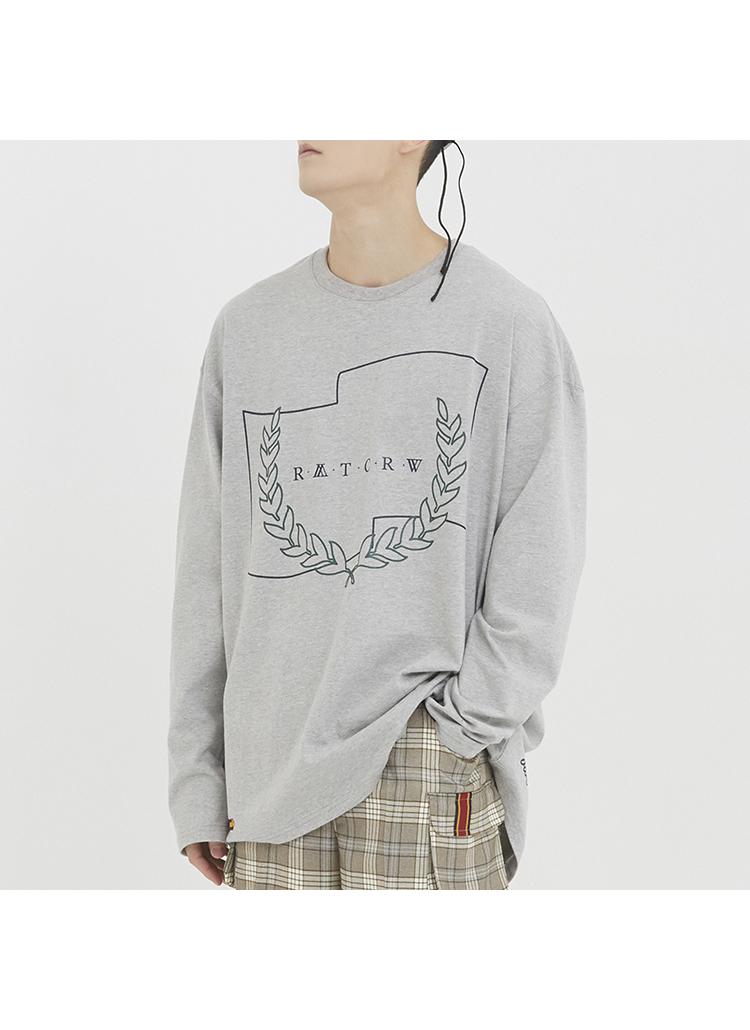 RMTCRWロングスリーブTシャツ(グレー)