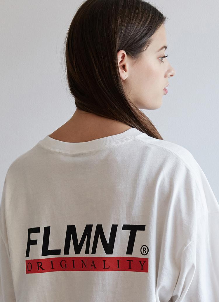 FLMNTロゴTシャツ(アイボリー)