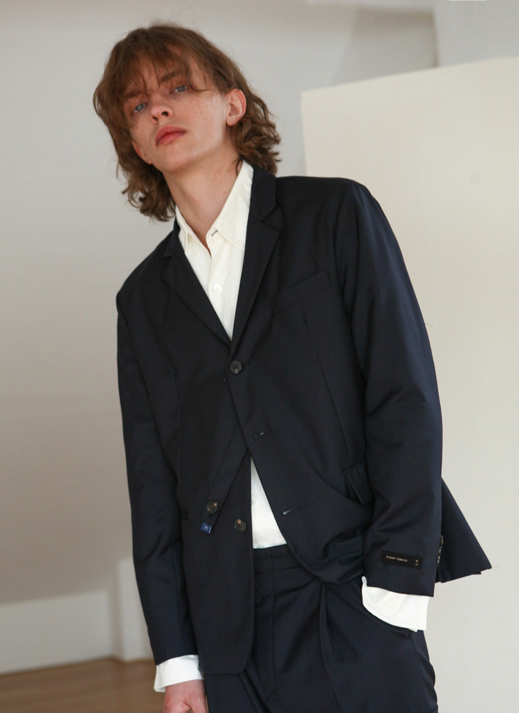 2STYLEシングルジャケット(ネイビー)