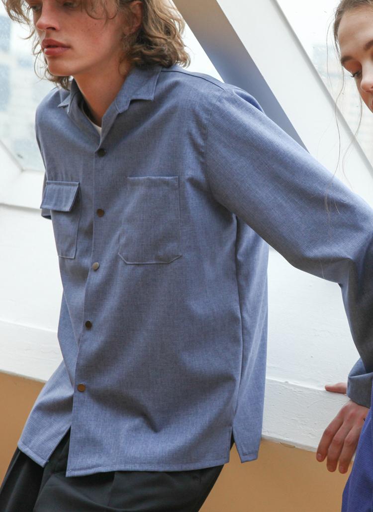 オーバーストリング袖ジャケット(ブルー)