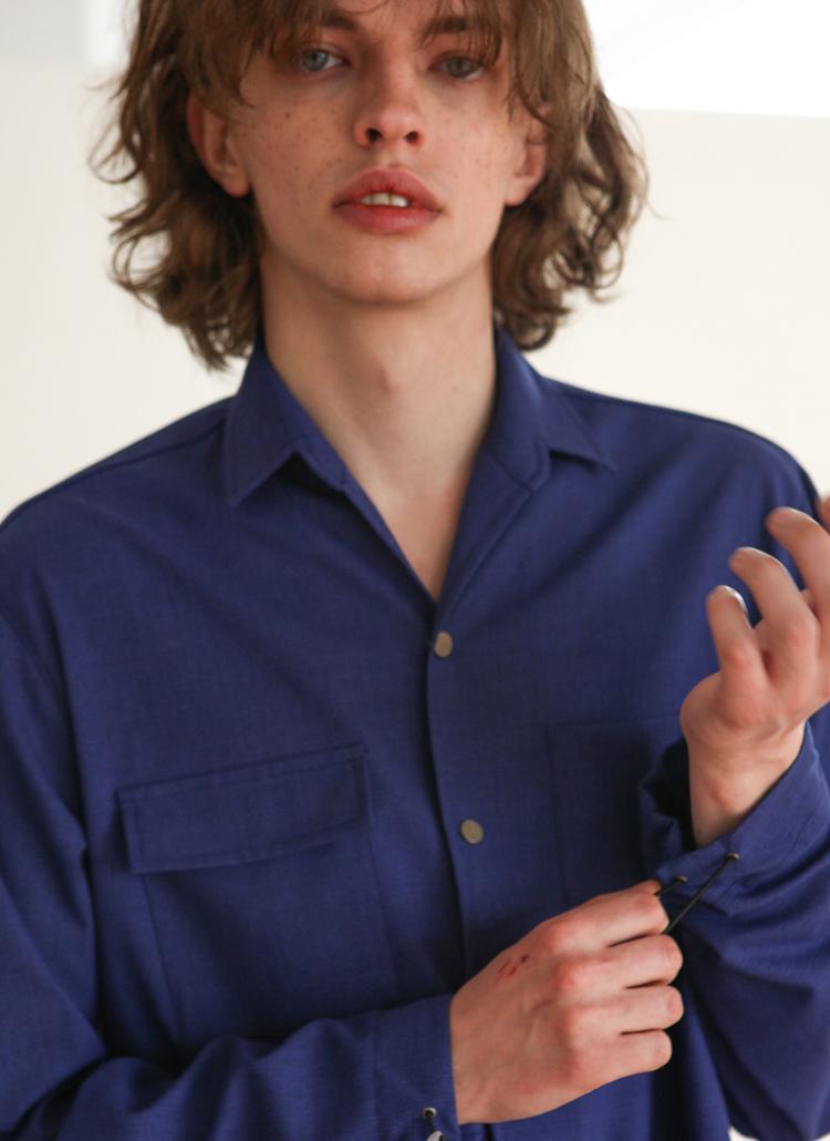 オーバーストリング袖ジャケット(ネイビー)