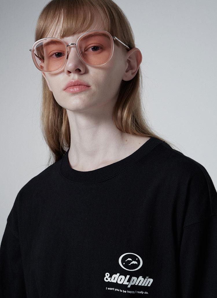 ドルフィンロングスリーブTシャツ(ブラック)