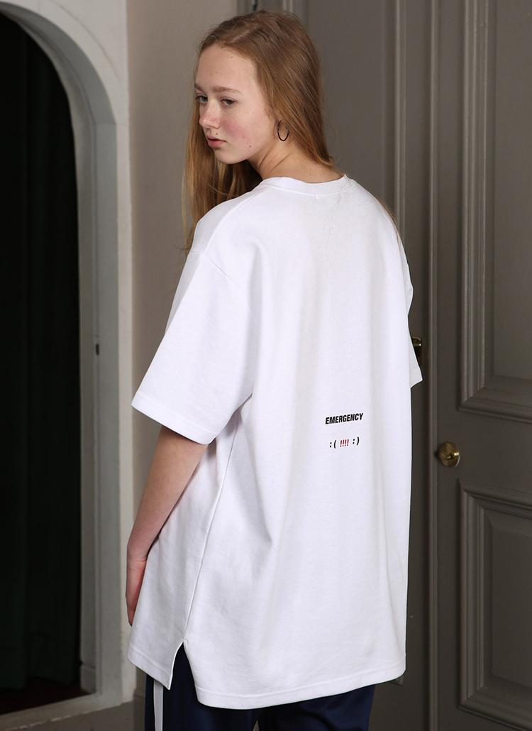 エモーティコンTシャツ(ホワイト)