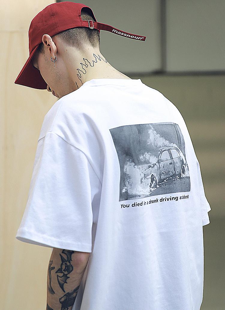 <font color=red><b><予約商品></b></font>カープリントTシャツ(ホワイト)