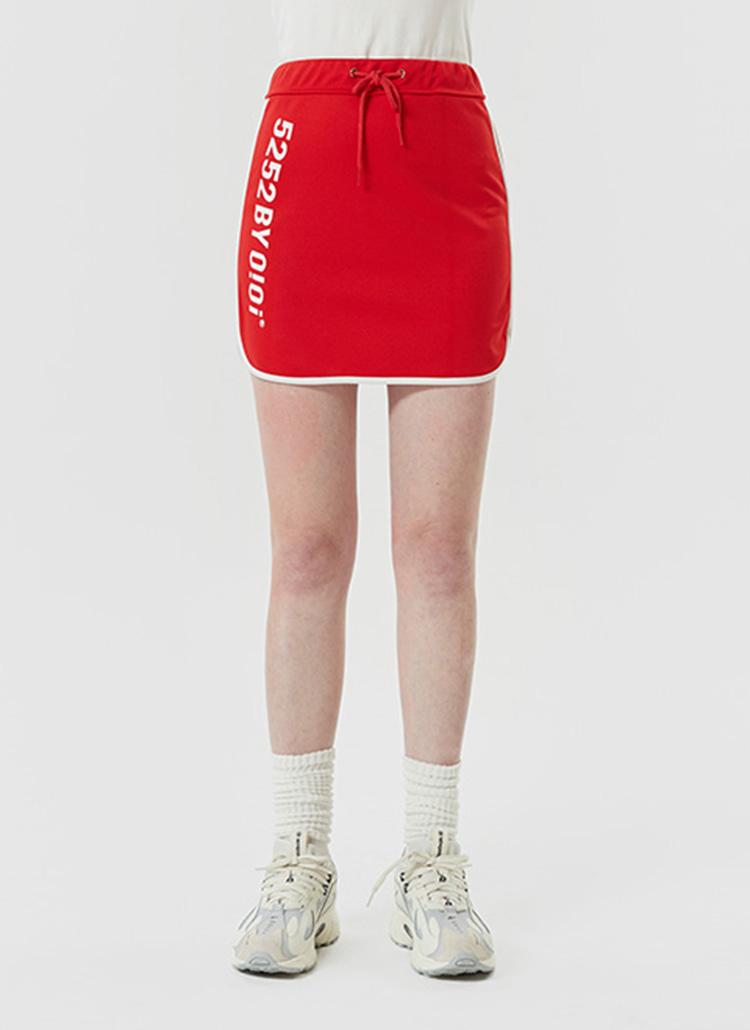 5252BYロゴストリングスカート(レッド)