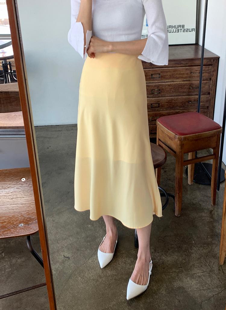ロングフレアスカート・全4色