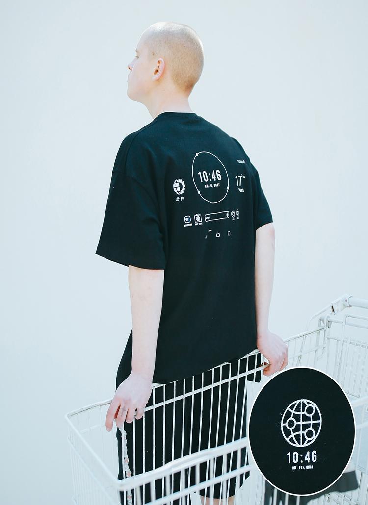 ミレニアムタイムTシャツ(ブラック)
