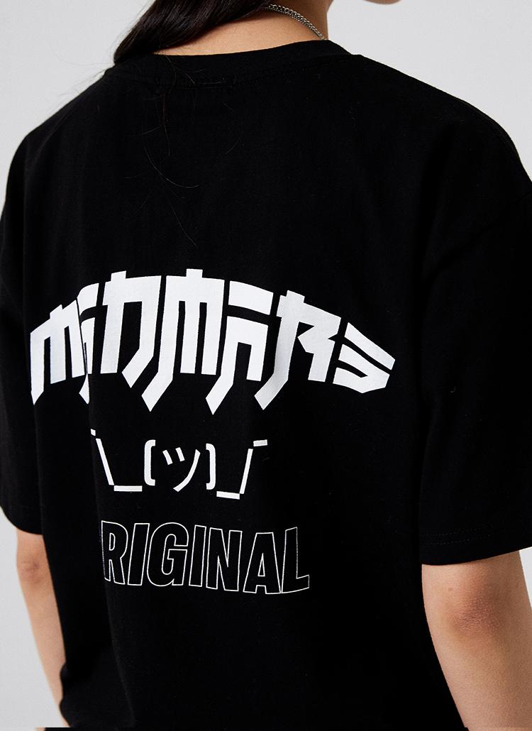CARTOONプリントTシャツ(ブラック)