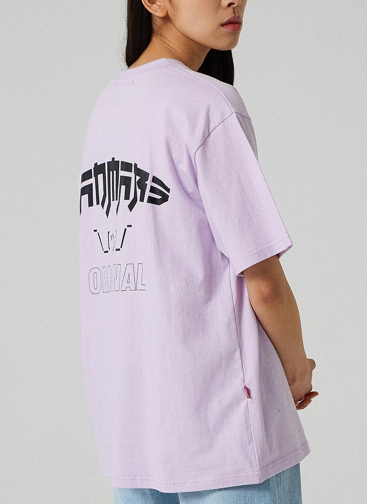 CARTOONプリントTシャツ(ライトパープル)