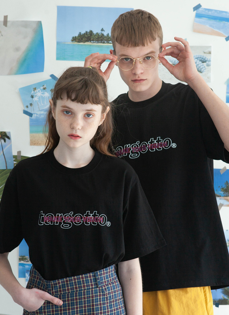 オーバーラップTシャツ(ブラック)