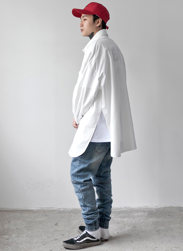 ディープスリットダブルポケットシャツ